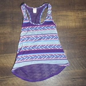 Mossimo Grey and Purple Tank Top Size Small